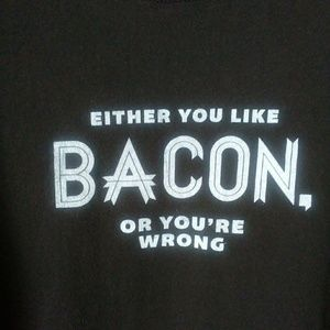 Bacon t-shirt Brown white graphic size medium